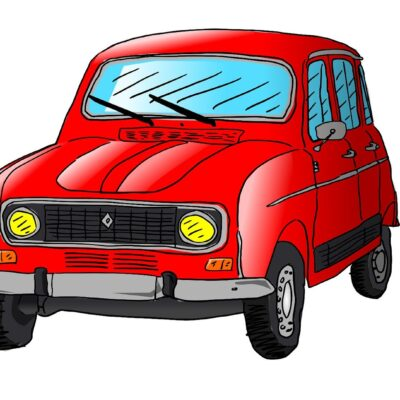 rysunek starego samochodu Renault